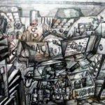 """""""Imbiss"""" Bleistiftzeichnung von Marcus Crimmann"""